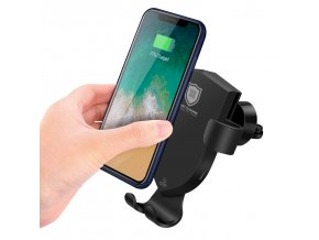Bezdrátová rychlá nabíječka / držák do auta pro iPhone - DuxDucis, C2 (napájecí adaptér v balení)
