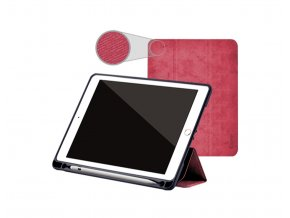Pouzdro / kryt pro iPad 2017 / 2018 - Comma, Leather Case Red (Pencil Slot)