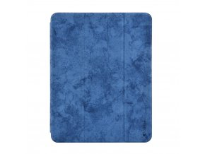 Pouzdro / kryt pro iPad Pro 12.9 (2018) - Comma, Leather Case Blue (Pencil Slot)
