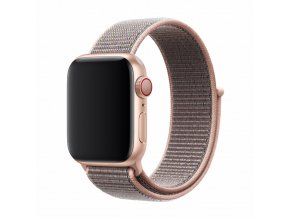 Řemínek pro Apple Watch 42mm / 44mm - Devia, Sport3 Pink Sand