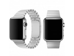 Řemínek pro Apple Watch 38mm / 40mm - Devia, LinkBracelet Silver