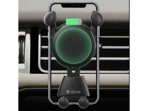 Bezdrátová rychlá nabíječka / držák do auta pro iPhone - Devia, Wireless Car Charger
