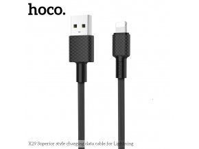 Kabel Lightning pro iPhone a iPad - Hoco, X29 Superior Black