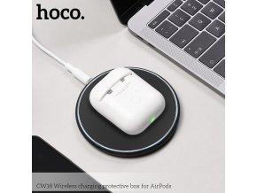 Pouzdro s funkcí bezdrátového nabíjení pro sluchátka AirPods - HOCO, CW18 Wireless Charging Box