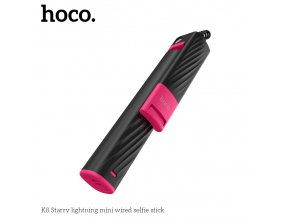 Selfie tyč pro iPhone - Hoco, K8 Starry Lightning Black