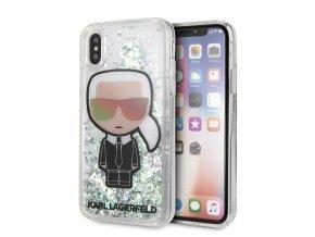 Ochranný kryt pro iPhone XS / X - Karl Lagerfeld, Iridescente Glitter