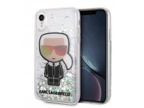 Ochranný kryt pro iPhone XR - Karl Lagerfeld, Iconic Glitter