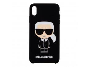 Ochranný kryt pro iPhone XS MAX - Karl Lagerfeld, Iconic Back Black