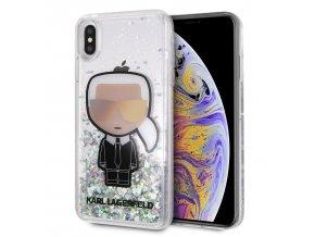 Ochranný kryt pro iPhone XS MAX - Karl Lagerfeld, Iconic Glitter