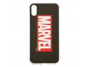 Ochranný kryt pro iPhone XS - MARVEL, Logo 001 Black