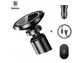 Bezdrátová nabíječka / držák do auta pro iPhone - BASEUS, BIG EARS 10W