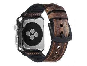 Kožený pásek / řemínek pro Apple Watch 42mm / 44mm - Leather Band, Brown
