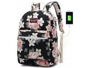 Batoh pro notebook - Canvaslove, BackPack WhiteRose