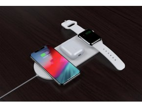 Bezdrátová rychlá nabíječka pro iPhone a Apple Watch - Devia, Wireless 3in1 Charger (V2)