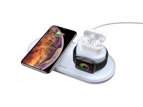 Bezdrátová rychlá nabíječka pro iPhone a Apple Watch - Devia, Wireless 3in1 Charger (V3)
