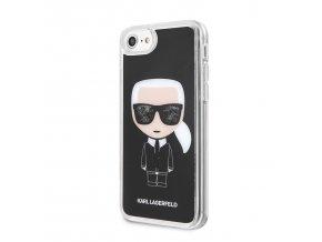 Ochranný kryt pro iPhone 7 / 8 - Karl Lagerfeld, Iconic Glitter Black