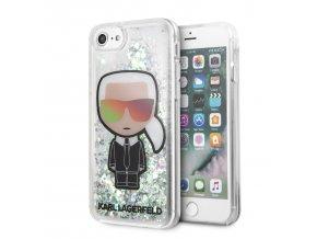 Ochranný kryt pro iPhone 7 / 8 - Karl Lagerfeld, Iridescent Glitter Black