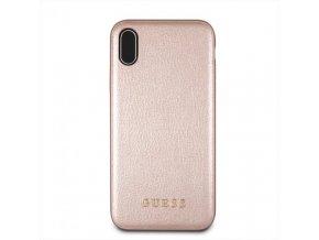 Ochranný kryt pro iPhone XS MAX - Guess, Iridescent Back RoseGold