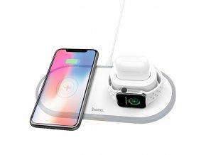 Bezdrátová rychlá nabíječka pro iPhone, Apple Watch a AirPods - HOCO, CW21 Wisdom 3in1