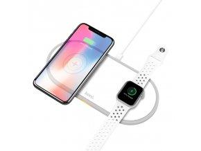 Bezdrátová rychlá nabíječka pro iPhone a Apple Watch - HOCO, CW20 Wisdom 2in1