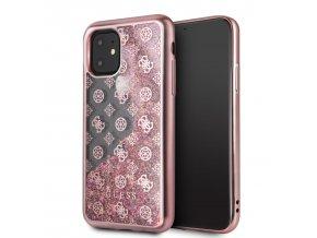 Ochranný kryt na iPhone 11 Pro - Guess, 4G Peony Glitter Rose