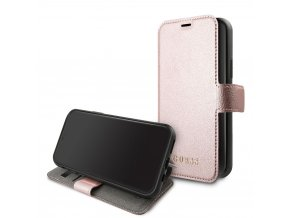 Pouzdro / kryt pro iPhone 11 - Guess, Iridescent Book Rose