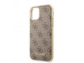 Ochranný kryt na iPhone 11 - Guess, 4G Cover Brown