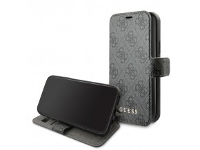 Pouzdro / kryt pro iPhone 11 - Guess, 4G Book Grey