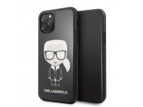 Ochranný kryt na iPhone 11 Pro MAX - Karl Lagerfeld, Glitter Iconic Black