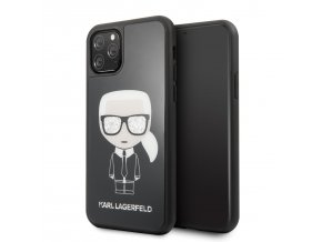 Ochranný kryt na iPhone 11 - Karl Lagerfeld, Glitter Iconic Black