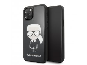 Ochranný kryt na iPhone 11 Pro - Karl Lagerfeld, Glitter Iconic Black