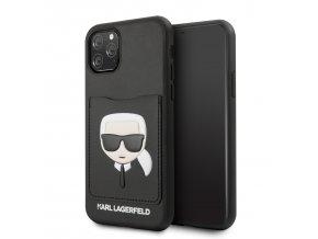 Ochranný kryt na iPhone 11 Pro - Karl Lagerfeld, CardSlot Cover Black