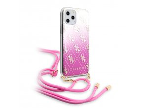Ochranný kryt na iPhone 11 Pro - Guess, 4G Gradient Pink