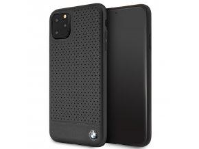 Ochranný kryt na iPhone 11 Pro MAX - BMW, Leather Cover Black