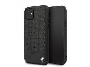Ochranný kryt na iPhone 11 - BMW, Leather Cover Black