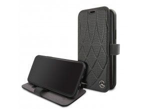 Ochranné pouzdro na iPhone 11 Pro - Mercedes, Quilted Perf Book Black
