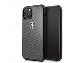 Ochranný kryt na iPhone 11 Pro - Ferrari, Heritage Carbon Cover Black