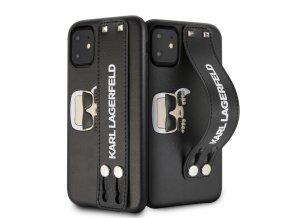 Ochranný kryt na iPhone 11 - Karl Lagerfeld, Hand Strap Black