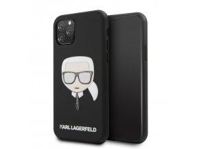Ochranný kryt na iPhone 11 Pro - Karl Lagerfeld, Embossed Glitter Black