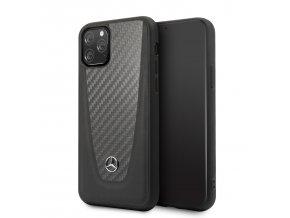 Ochranny kryt na iPhone 11 - Mercedes, Carbon Cover Black