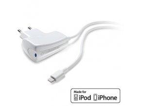 Nabíječka do sítě s kabelem Lightning pro iPhone - CellularLine, 1A