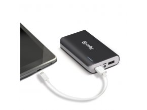 Externí baterie pro Apple iPhone a iPad - CELLY, Powerbank 6000mAh Black