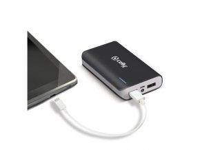 Externí baterie pro Apple iPhone a iPad - CELLY, Powerbank 6000mAh Black
