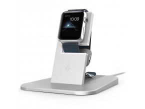 Hliníkový nabíjecí stojánek pro Apple Watch - TwelveSouth, HiRise Silver