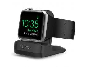 Noční nabíjecí stojánek pro Apple Watch - Spigen, S350 Night Stand Black