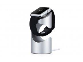 Hliníkový nabíjecí stojánek pro Apple Watch 38mm / 42mm - Just Mobile, TimeStand Silver