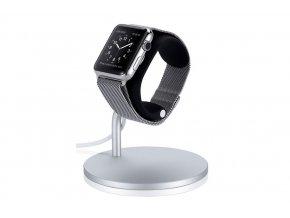 Hliníkový nabíjecí stojánek pro Apple Watch 38mm / 42mm - Just Mobile, Lounge Dock