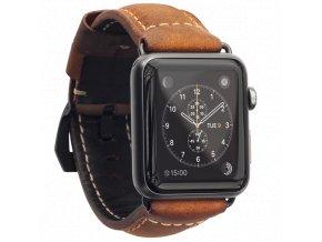 Kožený pásek / řemínek pro Apple Watch 42mm - Nomad, Rugged Leather Strap Space Gray