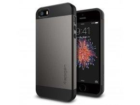Pouzdro / kryt pro Apple iPhone 5 / 5S / SE - Spigen, Slim Armor Gunmetal