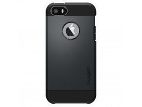 Pouzdro / kryt pro Apple iPhone 5 / 5S / SE - Spigen, Tough Armor Metal Slate